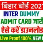 Inter Dummy Admit Card