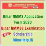 Bihar NMMS Application Form 2020