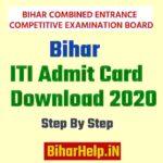 Bihar ITI Admit Card Download 2020