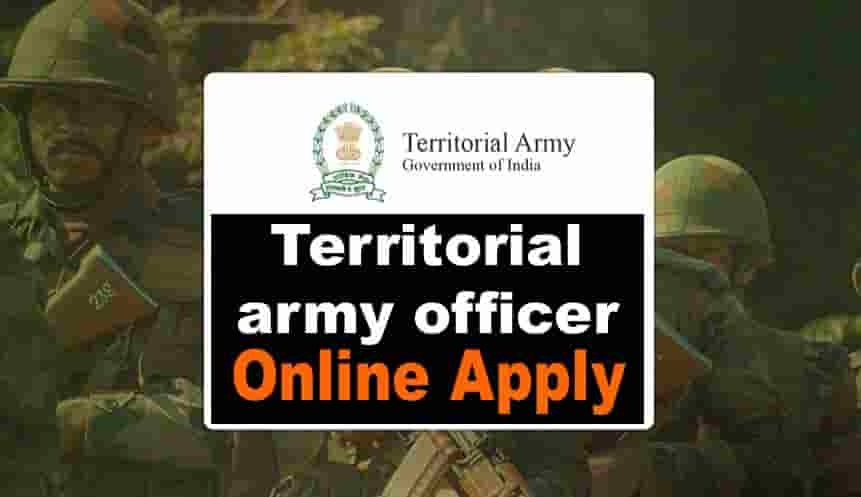 Territorial army officer requirement 2021