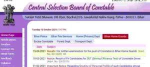 Bihar Police Constable 8415 Result 2021